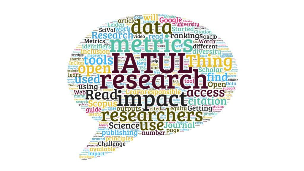 IATUL Research Impact Things word cloud